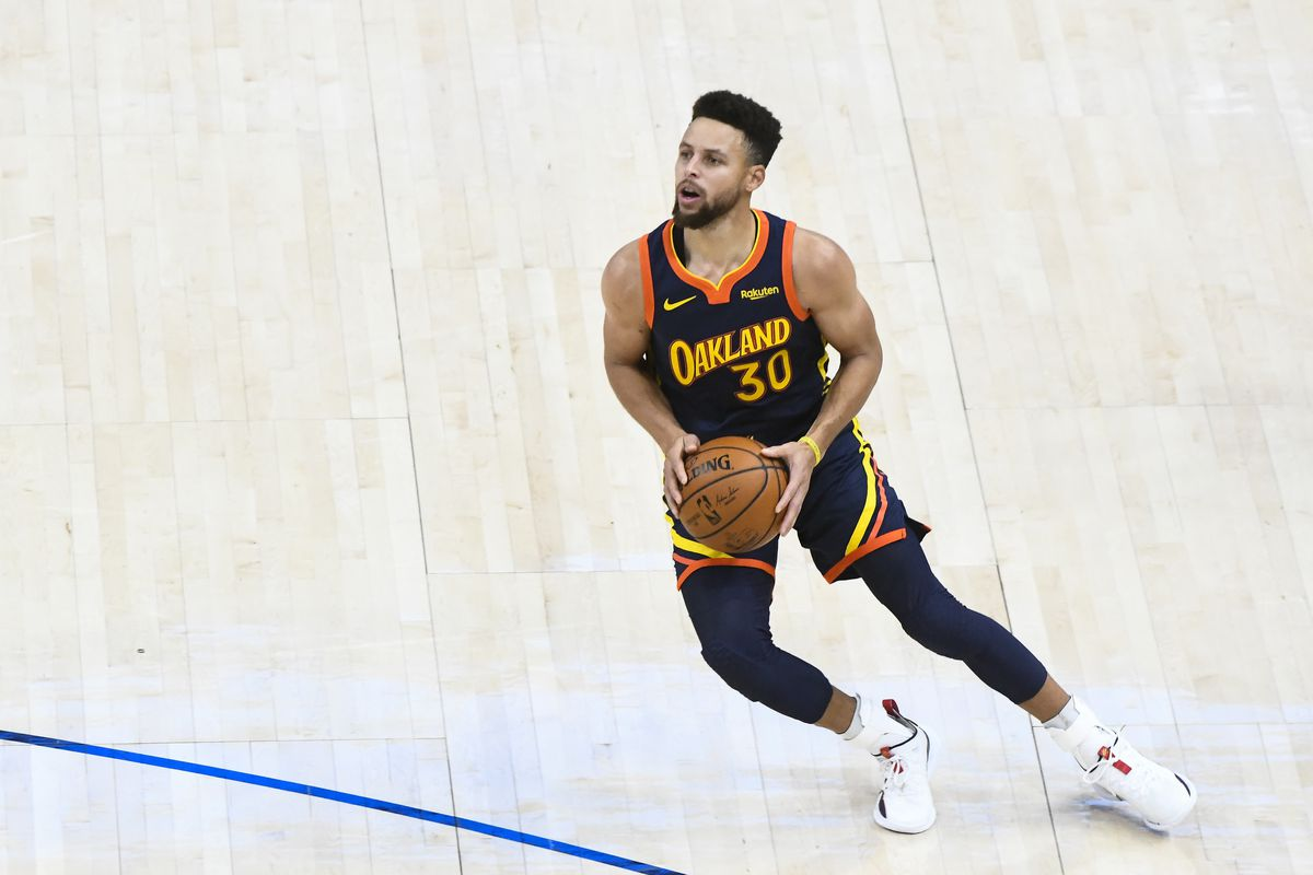 Stephen Curry of the Golden State Warriors in action during a game against the Utah Jazz at Vivint Smart Home Arena on January 23, 2021 in Salt Lake City, Utah.