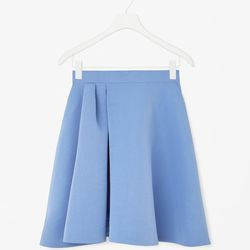 """Flared pleated skirt, <a href=""""http://www.cosstores.com/us/Women/Sale/Flared_pleated_skirt/16265326-15962581.1#c-15133331"""">$80</a>"""