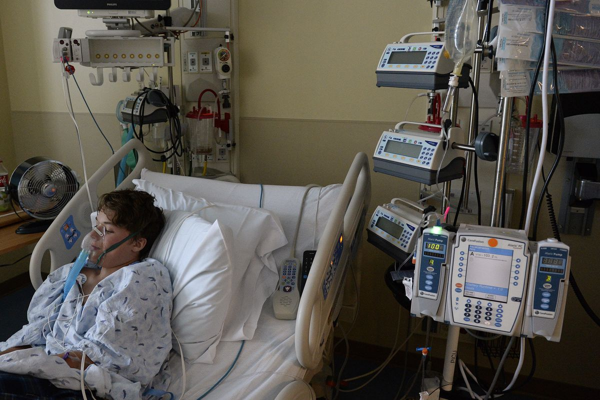 A 13-year-old recovering from enterovirus D68 at Rocky Mountain Hospital for Children in Denver.