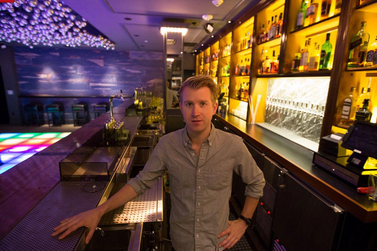 Alex Day inside Honeycut