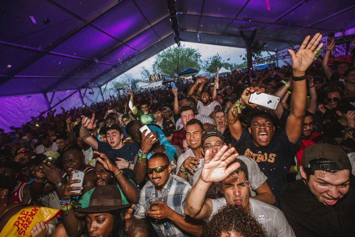 The crowd at Fader Fort 2016 in Austin