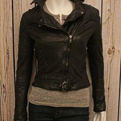 "Muubaa ""Minsk"" goat leather jacket, $620 at <a href=""http://www.thirdstreethabit.com/shop/clothing/minsk_quilted_leather_jacket.html"">Third Street Habit</a>"