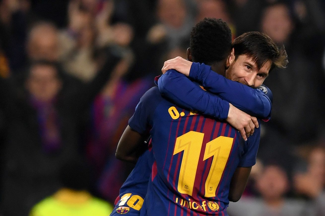 WATCH: Messi guide Dembele through Chelsea match