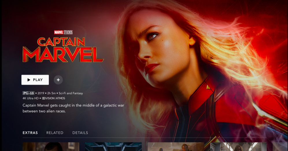 The Disney+ interface feels empty but elegant compared to Netflix