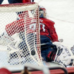 Puck Behind Holtby's Net