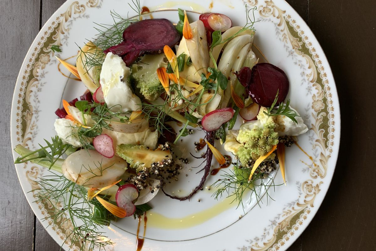 The barbecue vegetable dish at Store House Market + Eatery