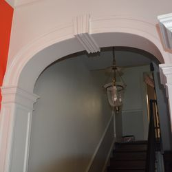 Arches to the stairs.