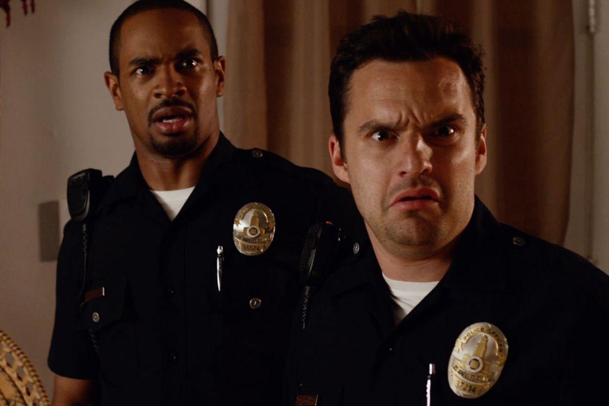 Damon Wayans, Jr., (left) and Jake Johnson star in Let's Be Cops.