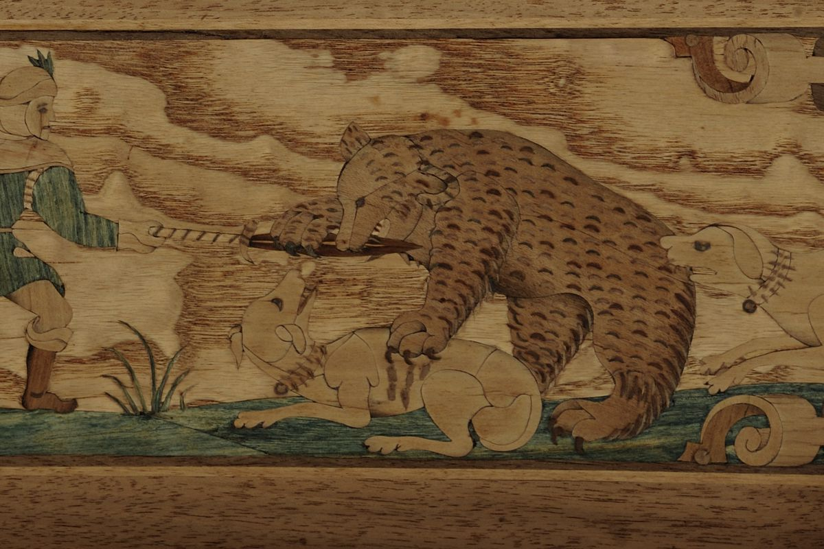 Mural wood painting, Velturno Castle