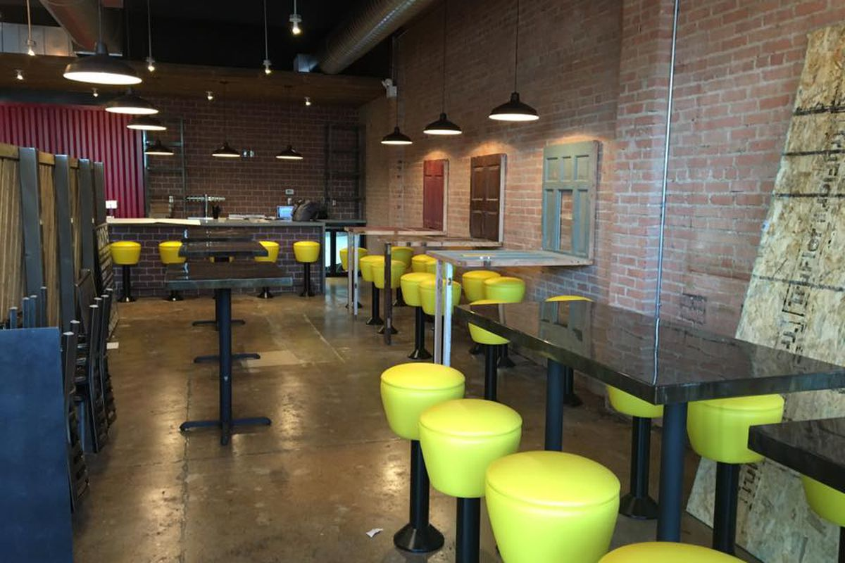 A look inside the not-quite-finished sandwich shop