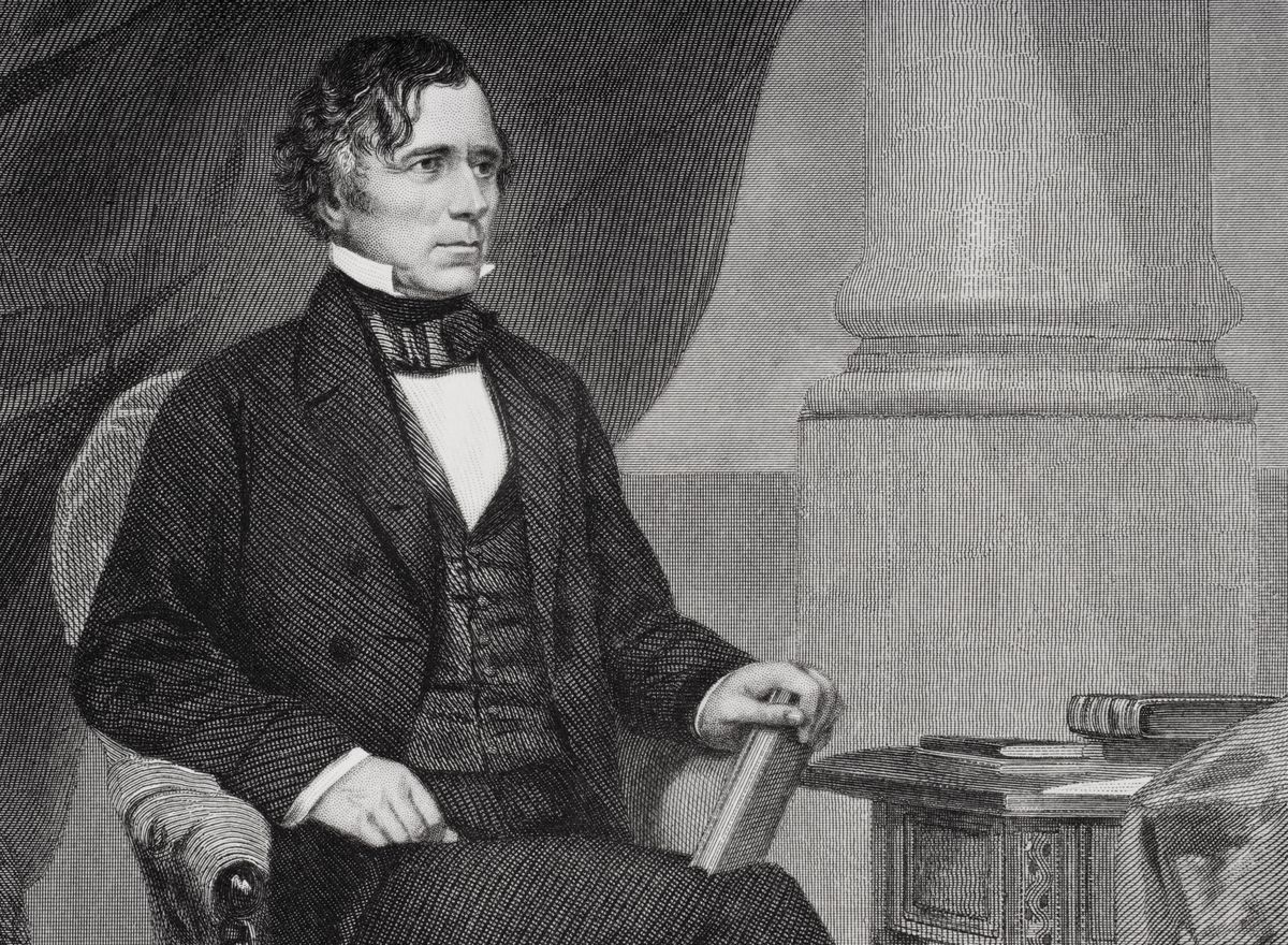 Franklin Pierce 1804 to 1869. 14th president of the United States 1853 to 1857. From painting by Alonzo Chappel...