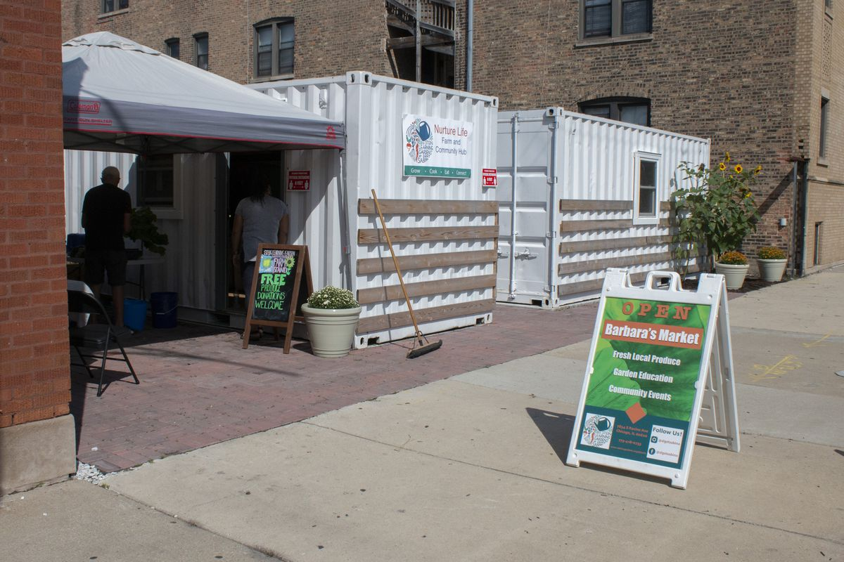 Barbara's Market at the Nurture Life Farm and Community Hub, which will offer families healthy cooking demos and pop-up farmers markets. | Brian Rich/Sun-Times