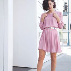 """Karla of <a href=""""http://www.karlascloset.com/"""">Karla's Closet</a> is wearing a dress from Shareen Vintage, Gucci sandals, a Stephen Einhorn ring and a <a href=""""http://www.yoox.com/us/46274773FU/item?dept=women&tp=11227&utm_campaign=affiliazione_us&utm_co"""