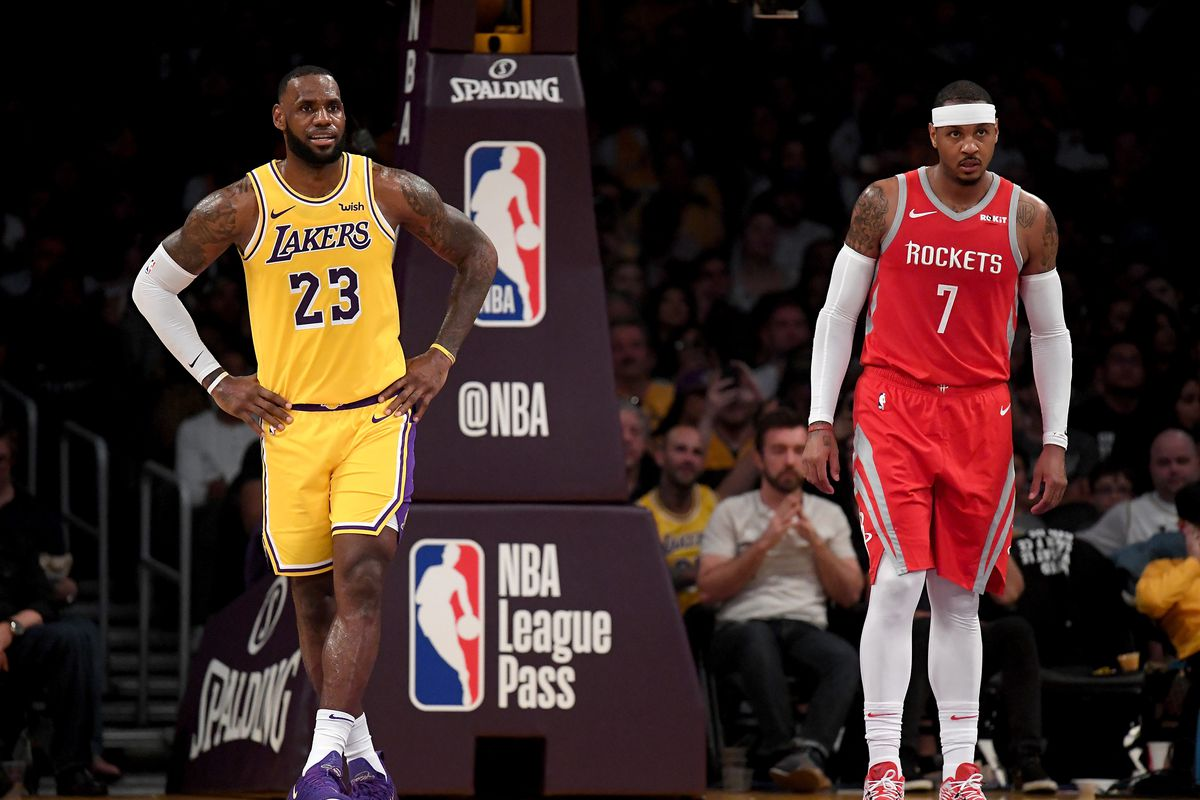 3f00220560ab LeBron James reportedly wants Carmelo Anthony on the Lakers but hasn t  asked front office to acquire him