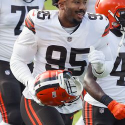 July 2020: The helmet incident from the 2019 season obviously didn't impact the Browns' desire to retain Myles Garrett. Garrett signed a contract extension through the 2026 season, temporarily making him the highest-paid defensive player in NFL history.