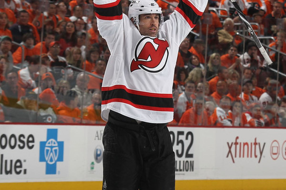 Raise your hand if you want Brian Rolston to waive his no trade clause. (Photo by Bruce Bennett/Getty Images)