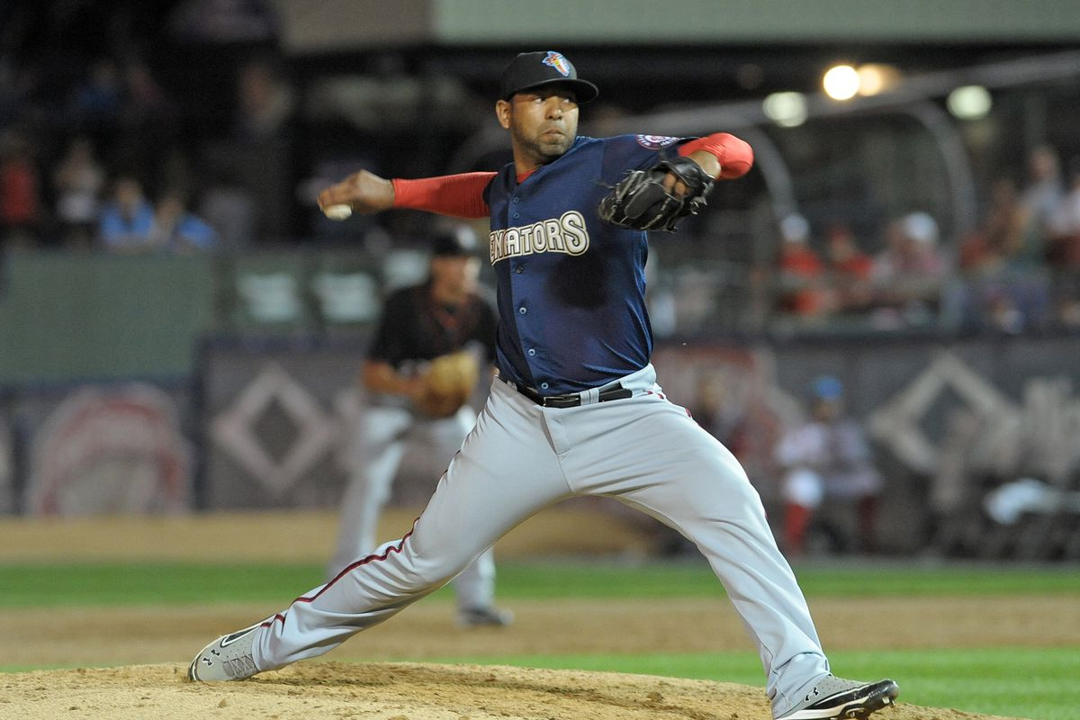 Hector Nelo has a live arm but at times has trouble harnessing his fastball