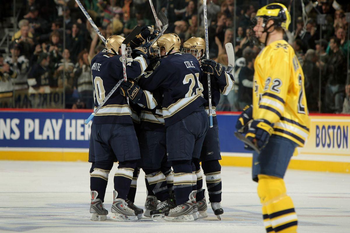 NCAA Frozen Four - Notre Dame v Michigan
