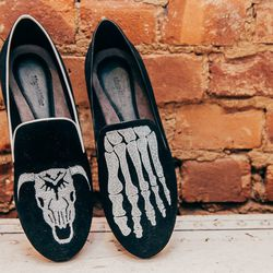 <b>Mara and Mine</b>, $350 each (skeleton foot available in men's sizes for $450)