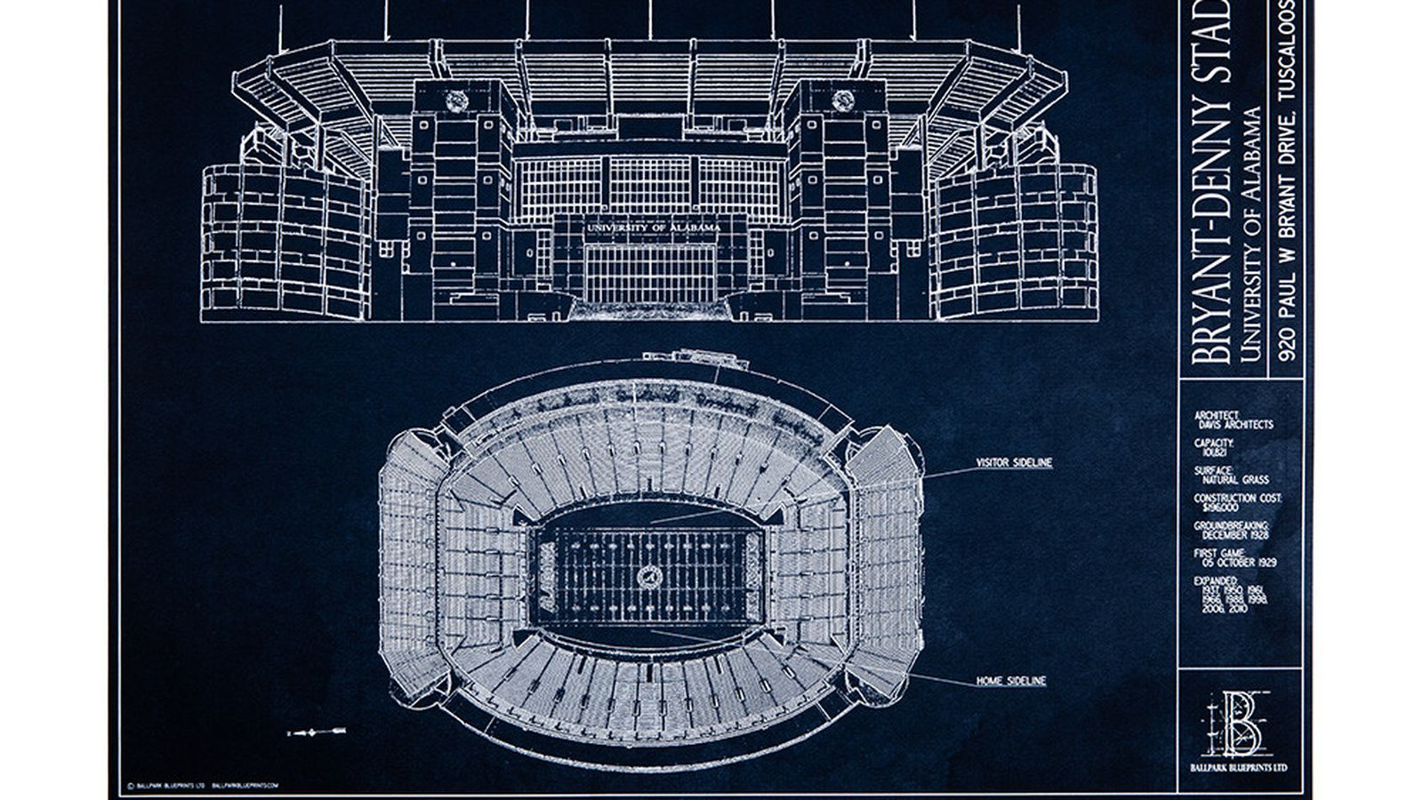 Beautiful bryant denny architectural blueprints now available and beautiful bryant denny architectural blueprints now available and you can win one roll bama roll malvernweather Gallery