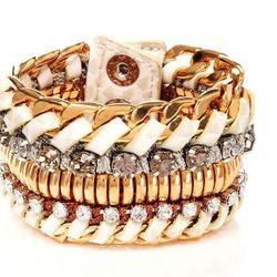 """<a href=""""http://www.henribendel.com/Deluxe-Girlfriend-Beaded-Wrap-Bracelet/23276953180193,default,pd.html"""">Beaded Wrap Bracelet</a>, $128"""