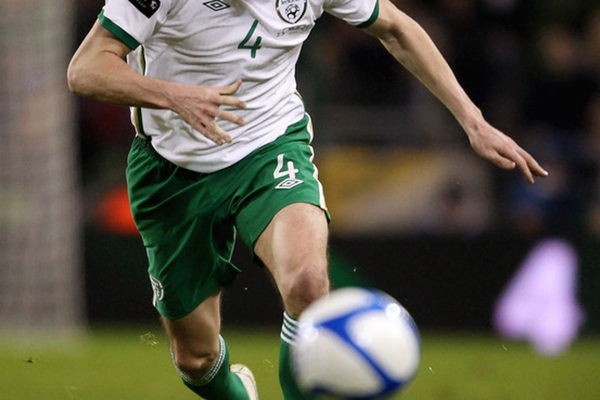 John O'Shea will hope to have Irish eyes smiling, if he's fit enough.