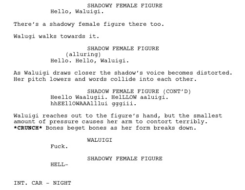 this masterpiece is not the waluigi movie script we want but it s