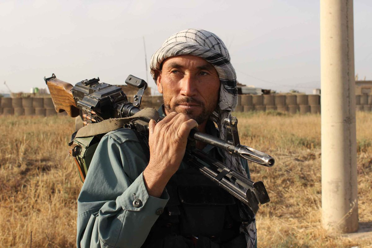 An Afghan fighter after the fall of Kunduz.
