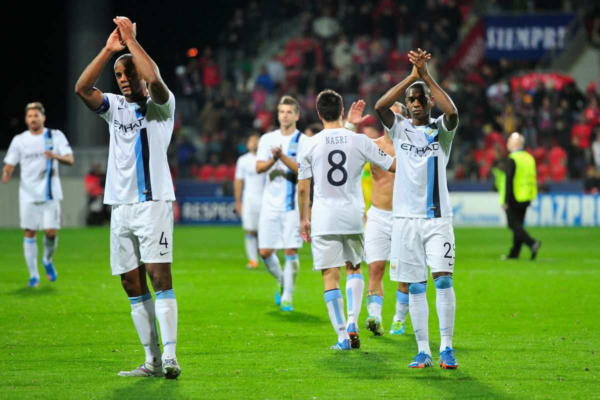 Captain and midfield general applaud the travelling Blues