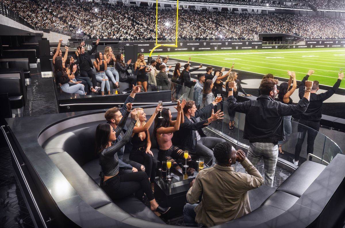 A nightclub in the end zone of a football stadium