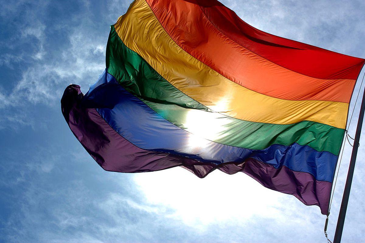 The LGBT Pride Flag.
