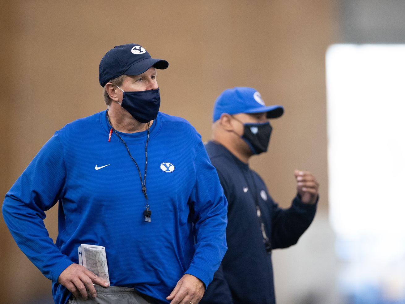 New BYU offensive line coach Darrell Funk.