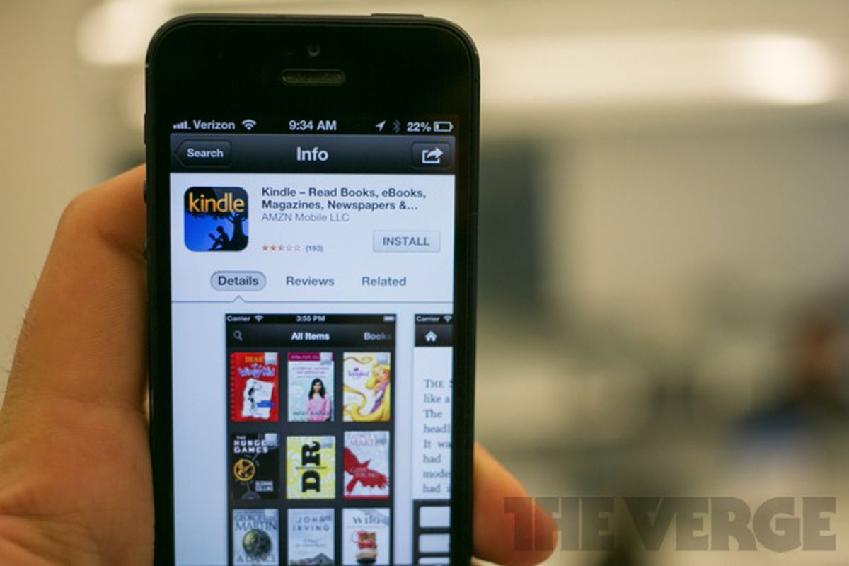 Kindle iPhone stock