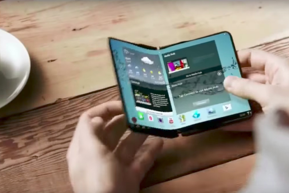 Samsung Will Reportedly Launch A Foldable Phone Next Year The Verge When Addressing Flexing Bending And Folding Of Flexible Circuit Bendable Concept Image Indvideos