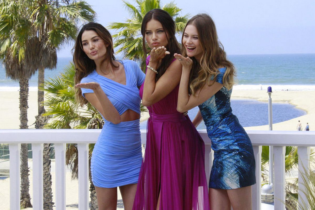 """VS Angels Lily Aldridge, Adriana Lima and Behati Prinsloo. Photo <a href=""""http://la.racked.com/archives/2013/05/15/victorias_secret_angels_talk_sexy_summer_plans_in_santa_monica.php"""">via</a>"""