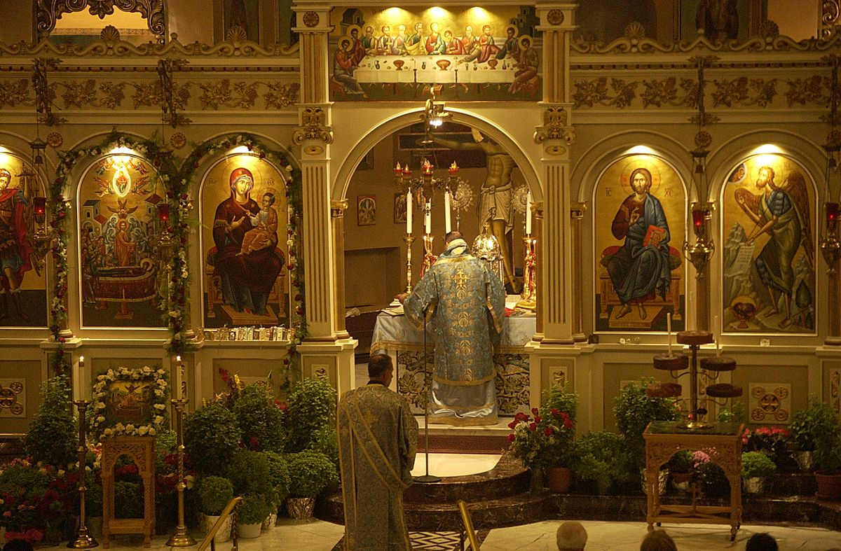 The Assumption Greek Orthodox Church in Chicago.  Sun-Times Archives.