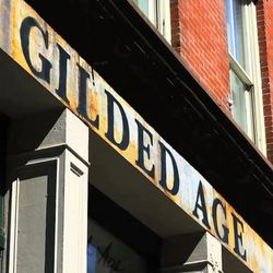 """<b>↑</b> With a focus on craftsmanship and classic denim created using old-fashioned methods for a vintage effect, <a href=""""http://www.gildedagenyc.com/"""">Gilded Age</a></b> (224 Front Street) is a constant, quiet favorite on the jean scene. Their new FiDi"""