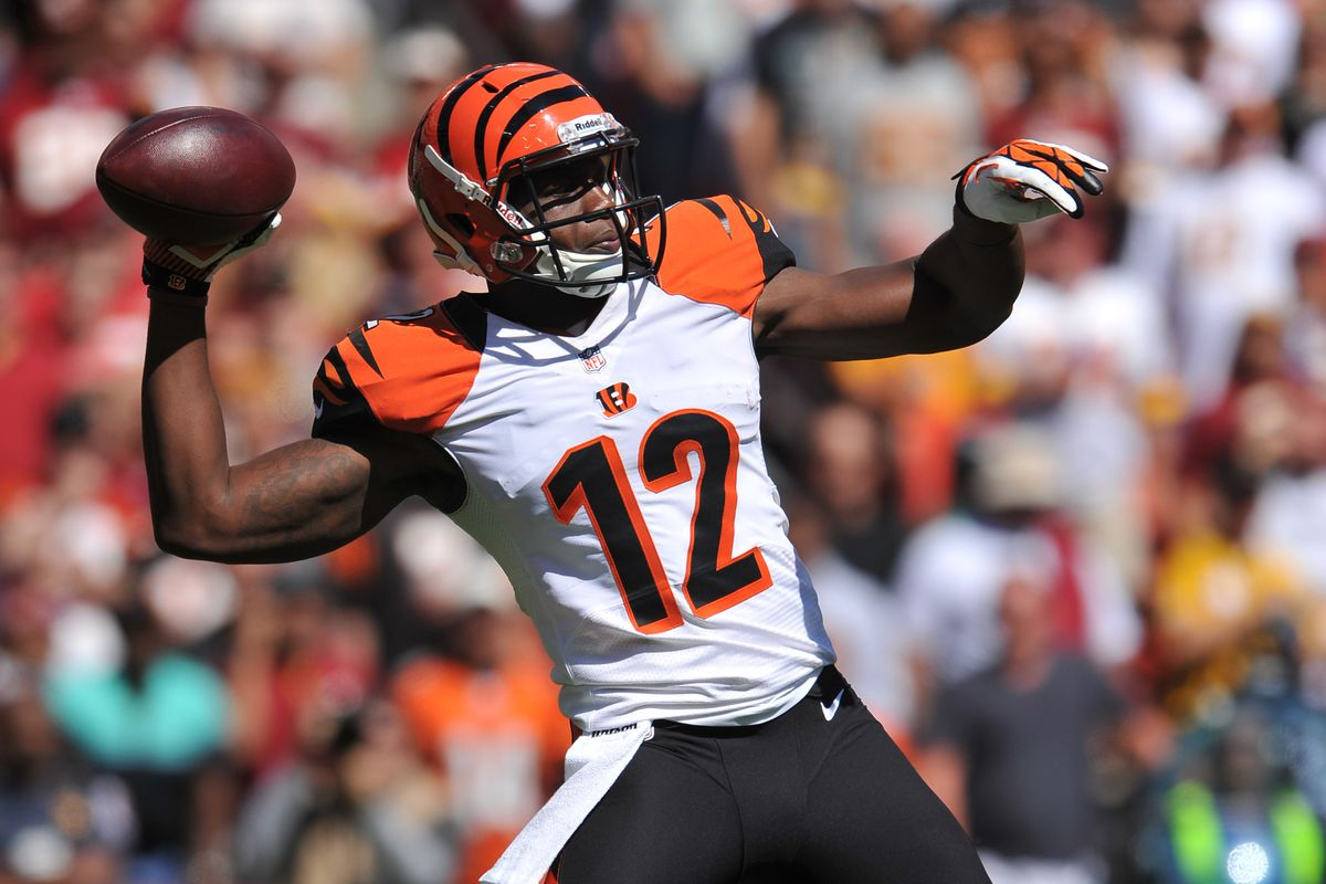 Mohamed Sanu has thrown an NFL touchdown pass, but has yet to catch one.