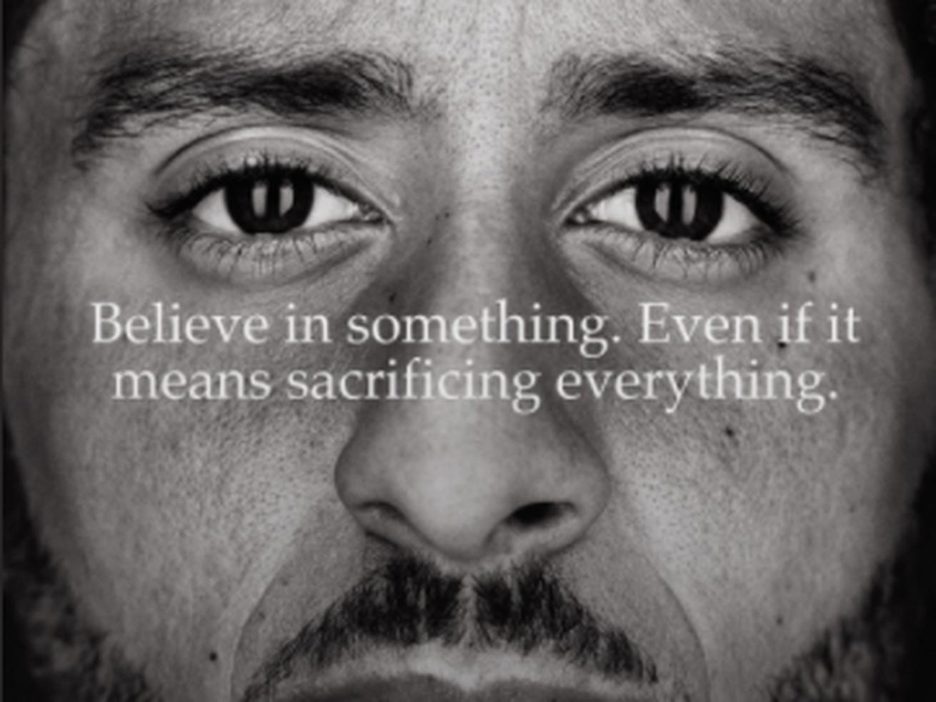 Kaepernick's Nike ad.