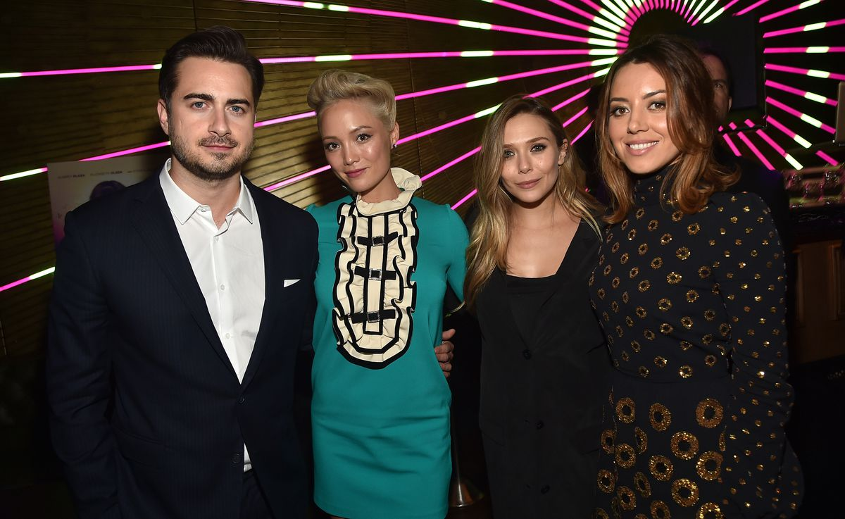 Director Matt Spicer with some of the cast of Ingrid Goes West.