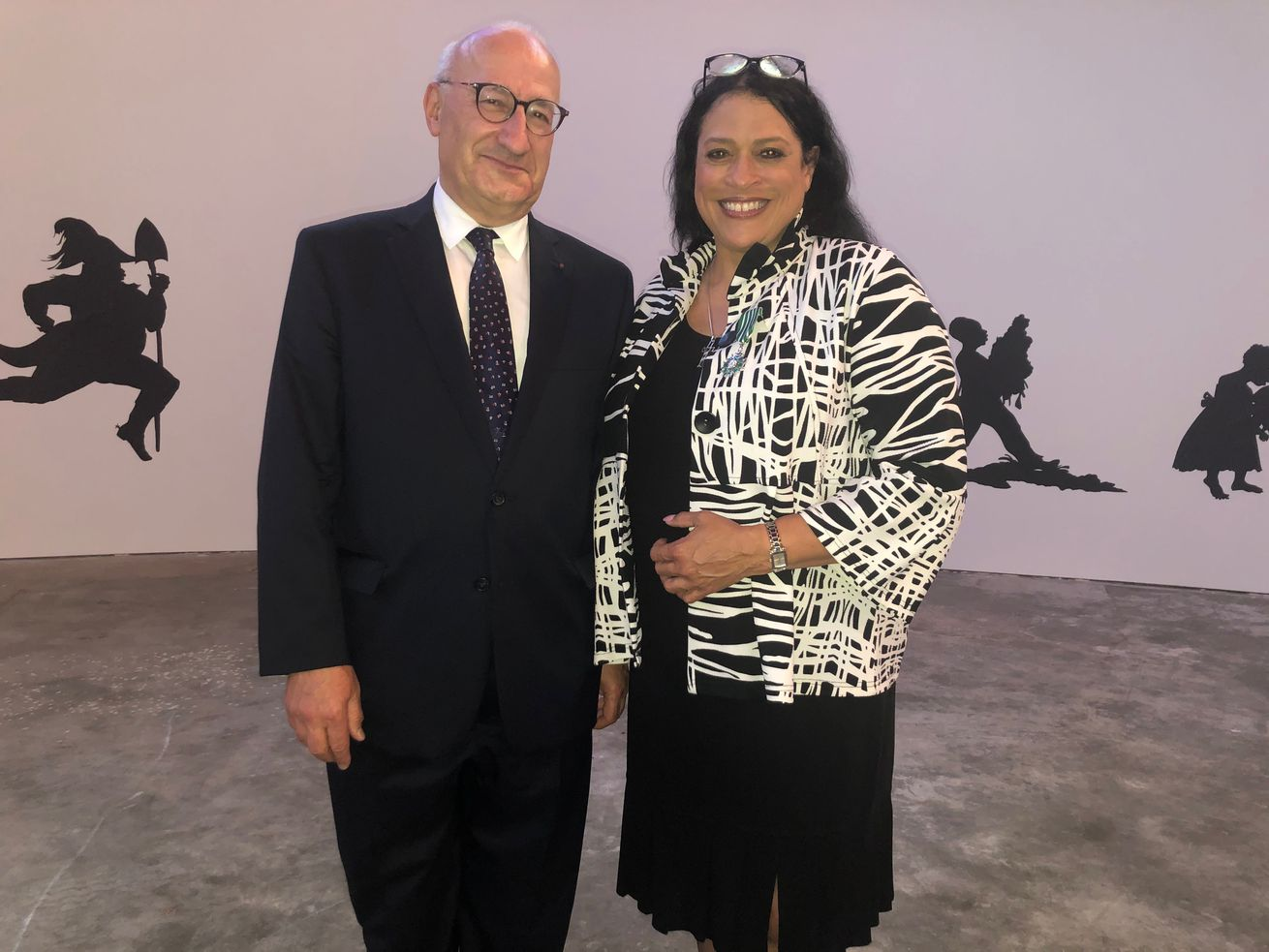 In a visit here, Philippe Etienne, Ambassador of France to the United States, awarded DuSable Museum of African American History President & CEO Perri Irmer the French government's highest honor in the arts, The Order of Arts and Letters, citing museum programs highlighting the relationship between African Americans and the French.