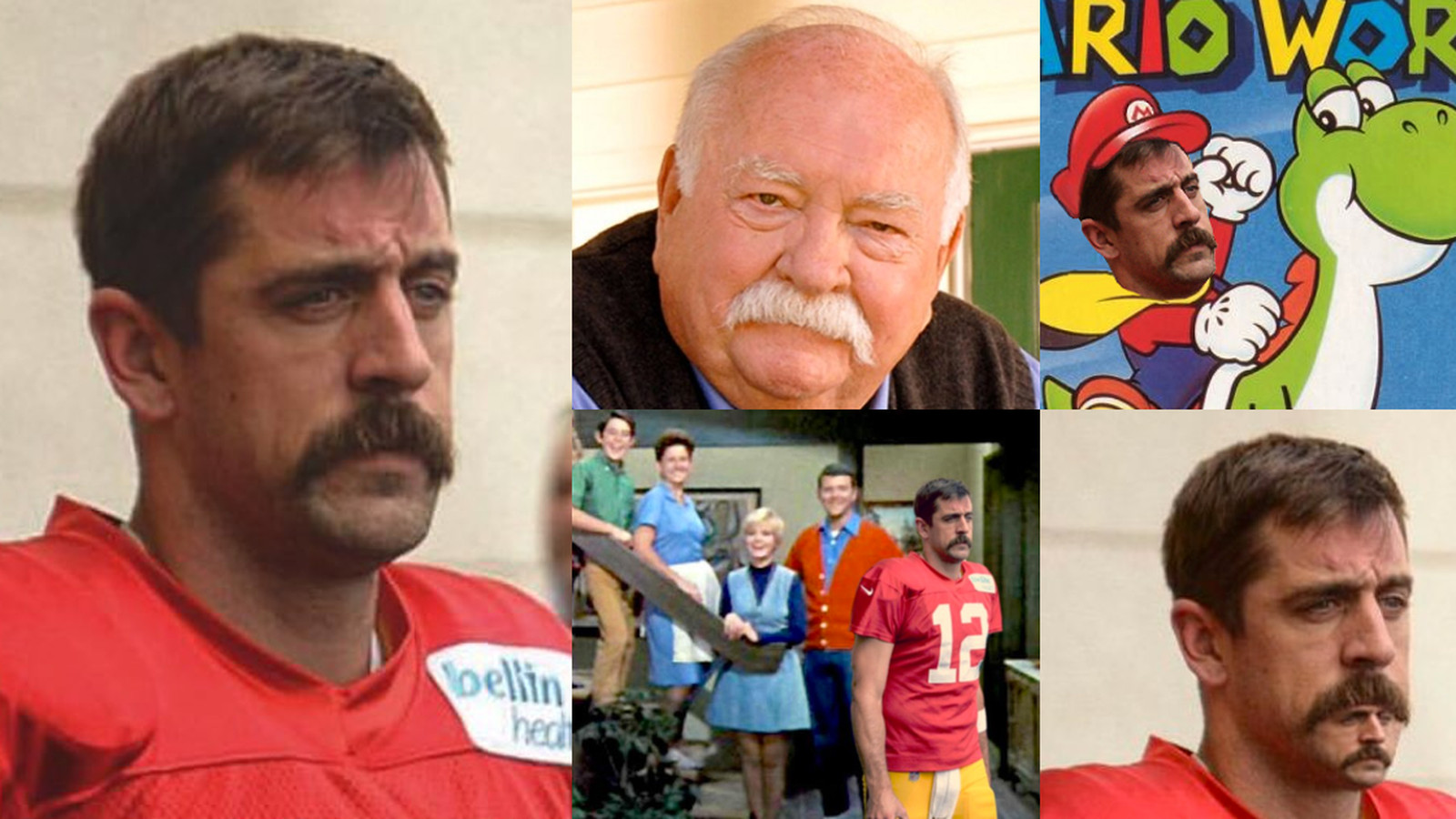 Aaron Rodgers 1970s Mustache Is The Season S Grooviest New Meme Sbnation Com