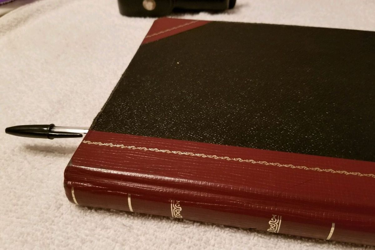 A logbook used at a city jail to record violent incidents.