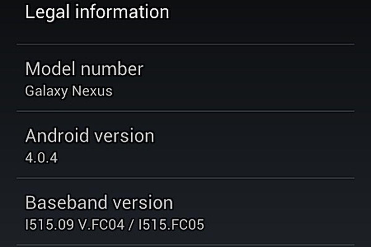 galaxy nexus android 4.0.4