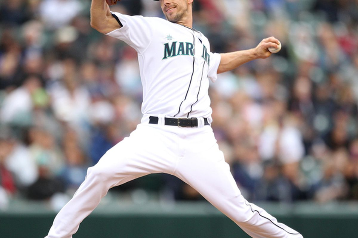 SEATTLE - JUNE 02:  Starting pitcher Cliff Lee #36 of the Seattle Mariners pitches against the Minnesota Twins at Safeco Field on June 2, 2010 in Seattle, Washington. (Photo by Otto Greule Jr/Getty Images)