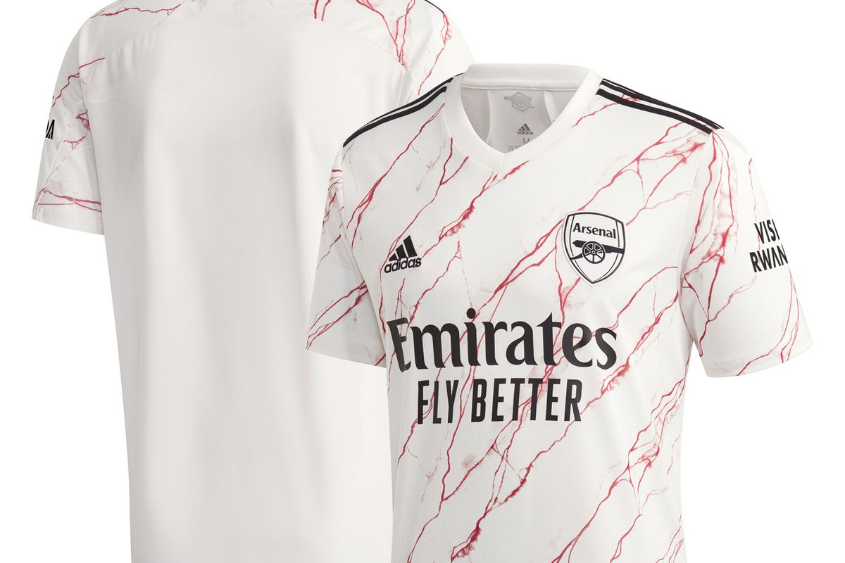 Arsenal Release 2020 21 Away Kits With Red And White Marble From Adidas The Short Fuse