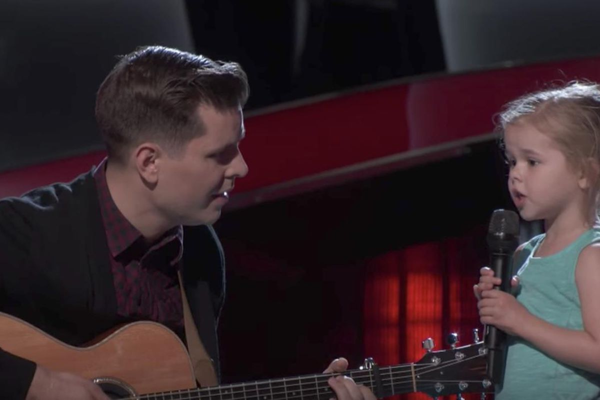 """Dave and Claire Crosby perform together on """"The Voice."""""""