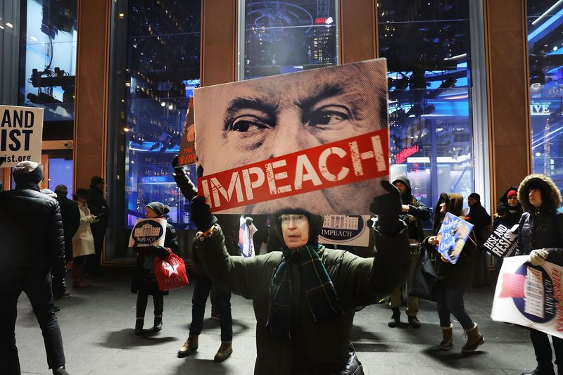 Protestors In NYC Call For Trump Impeachment For Acts Of Sexual Assault