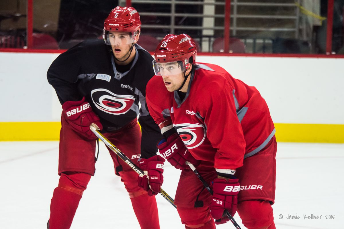 Noah Hanifin and Chris Terry have made the opening night roster.