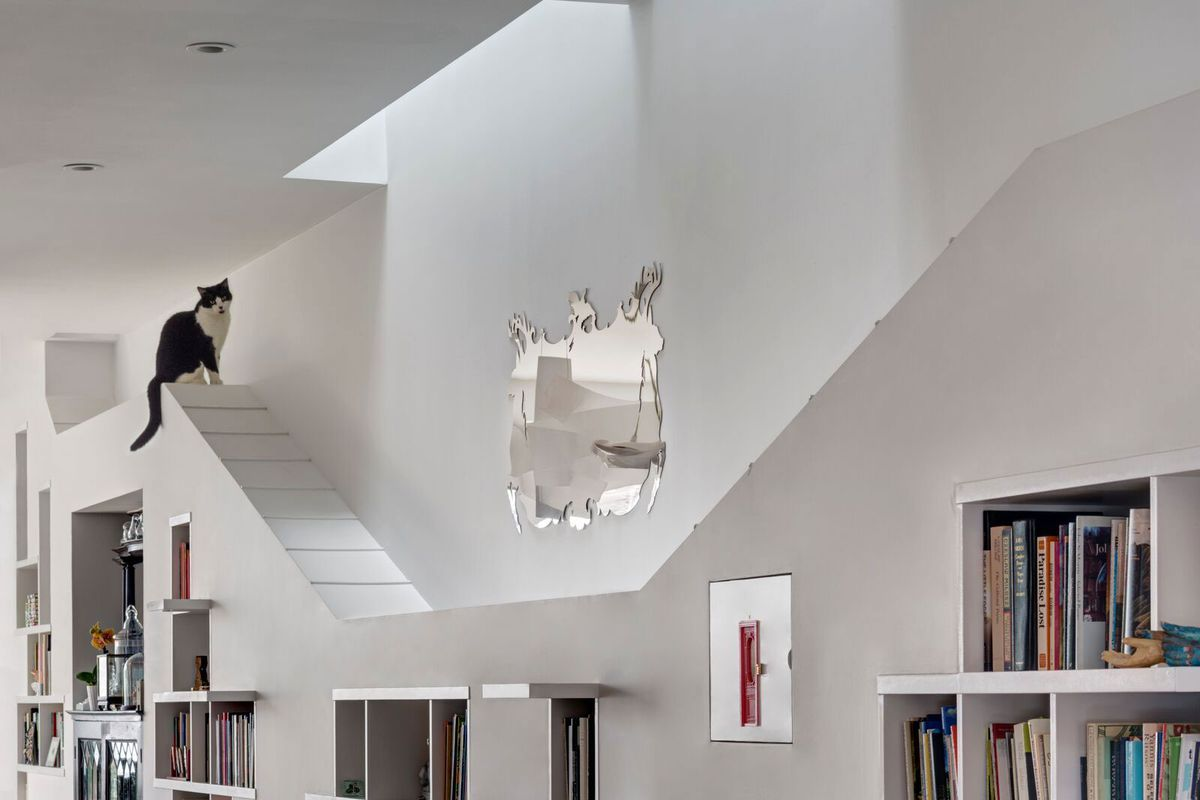 A dated Brooklyn townhouse is transformed into a cat-friendly ... on copy cat chic nursery room design, cat shelves, cat bathroom accessories, cat room house design, cat condo from old dresser, cat house home design, cat staircase design, cat chair, cat wall walks designs, cat interior design, cat from home, cat stairs, cats in the kitchen design,